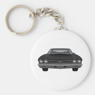 1968 Chevelle SS: Black Finish Keychain