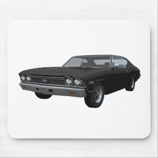 1968 Chevelle SS: Black Finish Mouse Pad