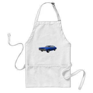1968 Chevelle SS: Blue Finish Adult Apron