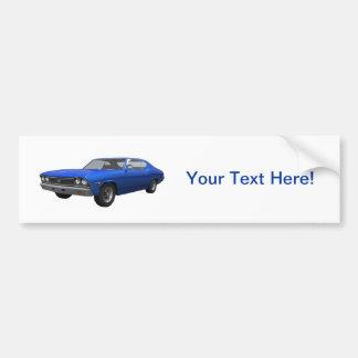 1968 Chevelle SS: Blue Finish Bumper Sticker