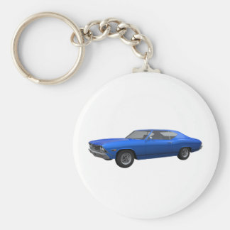 1968 Chevelle SS: Blue Finish Keychain