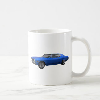 1968 Chevelle SS: Blue Finish Classic White Coffee Mug