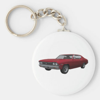 1968 Chevelle SS: Candy Apple Finish Keychain