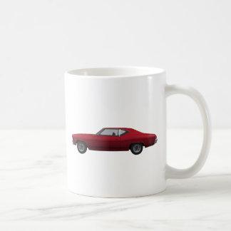 1968 Chevelle SS: Candy Apple Finish Classic White Coffee Mug