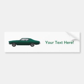 1968 Chevelle SS: Green Finish Bumper Sticker