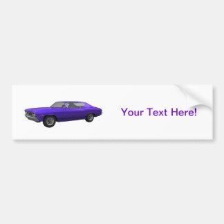 1968 Chevelle SS: Purple Finish Bumper Sticker