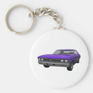 1968 Chevelle SS: Purple Finish Keychain