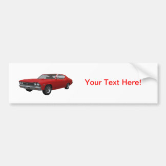 1968 Chevelle SS: Red Finish Bumper Stickers