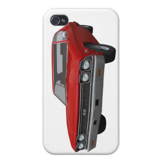 1968 Chevelle SS Red Finish iPhone 4/4S Covers