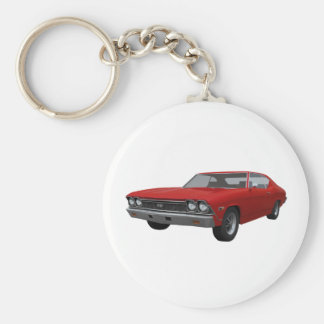 1968 Chevelle SS Red Finish Keychains