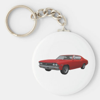 1968 Chevelle SS Red Finish Key Chains