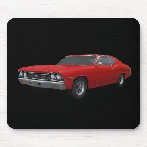 1968 Chevelle SS: Red Finish: Mousepad