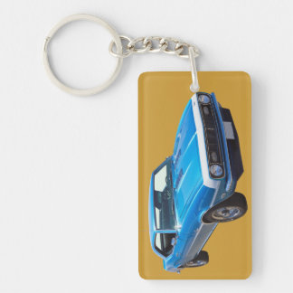 1968 Chevrolet Camaro 327 Muscle Car Double-Sided Rectangular Acrylic Keychain
