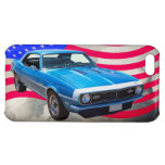 1968 Chevrolet Camaro And American Flag Cover For iPhone 5C