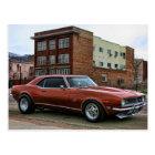 1968 chevy camaro muscle car postcard