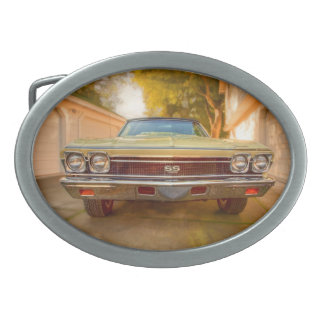 1968 CHEVY CHEVELLE SS 396 2 OVAL BELT BUCKLES