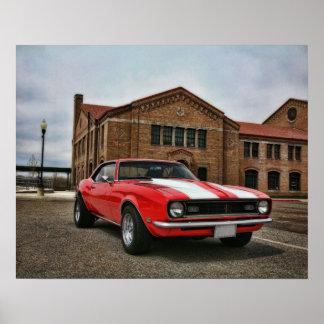 1968 chevy super sport camaro poster