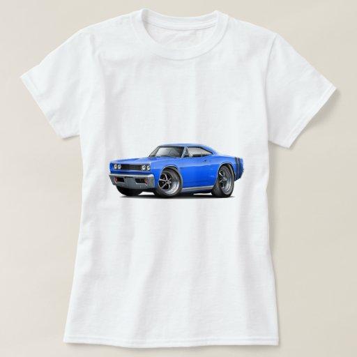 1968 Coronet RT Blue-Black Car T Shirt