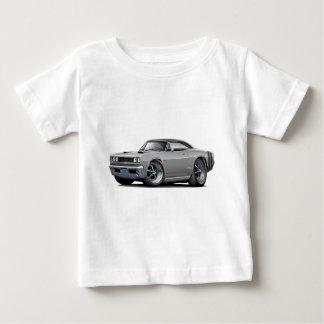 1968 Coronet RT Grey-Black Top Double Hood Scoop C T Shirt
