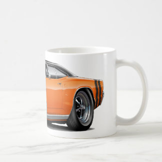 1968 Coronet RT Orange-Black Top Double Hood Scoop Coffee Mug