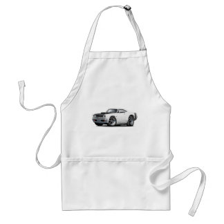 1968 Coronet RT White-Black Hood Scoop Car Adult Apron