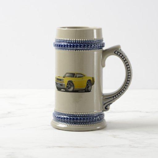 1968 Coronet RT Yellow-Black Double Hood Scoop Car Mug
