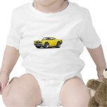 1968 Coronet RT Yellow-Black Double Hood Scoop Car Tee Shirts