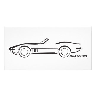 1968 Corvette Convertible BLK Photo Card