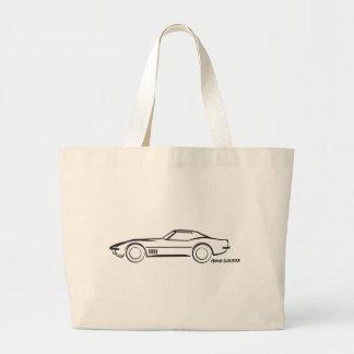 1968 Corvette Hardtop BLK Tote Bags
