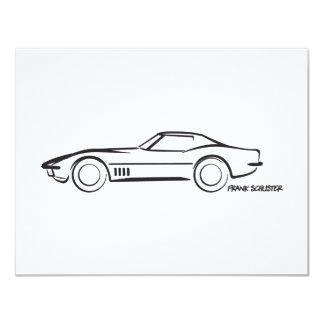 1968 Corvette Hardtop BLK 4.25x5.5 Paper Invitation Card