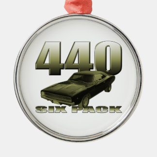 1968 dodge charger 440 six pack metal ornament