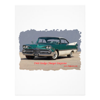 1968 Dodge Charger Daytona Letterhead Template