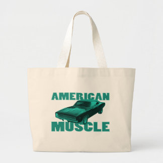 1968 dodge charger r t american muscle blue tote bags