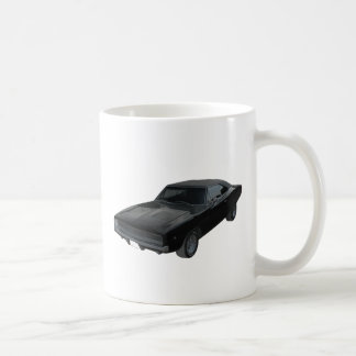 1968 dodge charger r/t mopar classic white coffee mug
