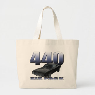 1968 dodge charger rt 440 six pack tote bags