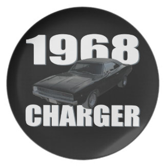 1968 dodge charger rt melamine plate