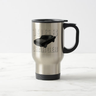 1968 dodge charger rt 15 oz stainless steel travel mug