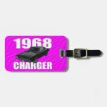 1968 dodge charger rt pink tag for bags
