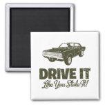 1968 Dodge Hurst Hemi Dart 2 Inch Square Magnet