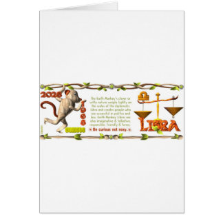1968 Earth Monkey born in 1968 Libra by Valxart Greeting Card