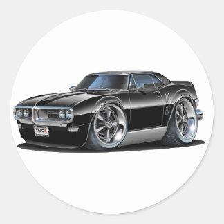 1968 Firebird Black Car Classic Round Sticker