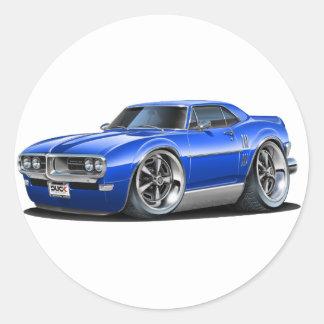 1968 Firebird Blue Car Classic Round Sticker