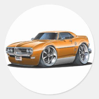 1968 Firebird Orange Car Classic Round Sticker