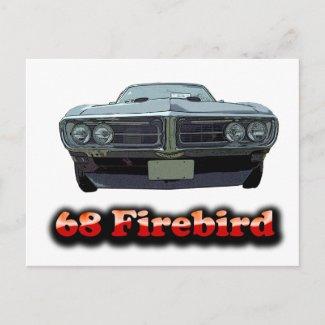 1968 Firebird Postcard postcard