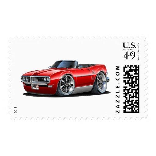 1968 Firebird Red Convertible Stamp
