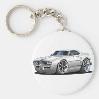 1968 Firebird White Car Keychain