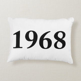 1968 for birthdays, anniversaries, celebrations accent pillow