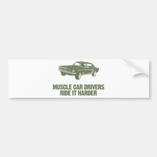 1968 Ford Mustang Coupe Car Bumper Sticker