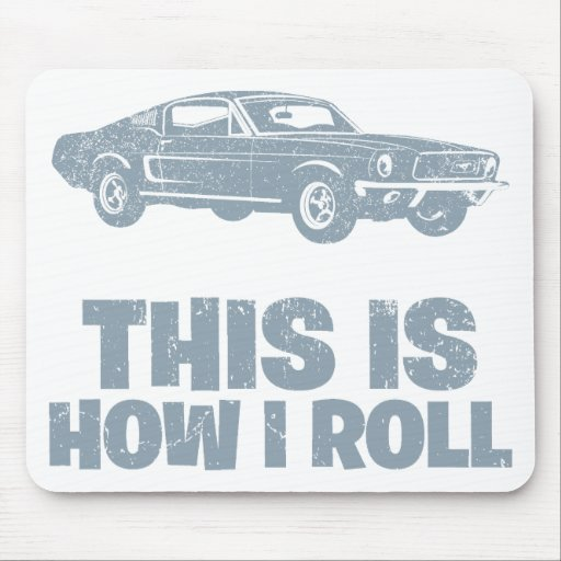 1968 Ford Mustang Fastback Mouse Pad