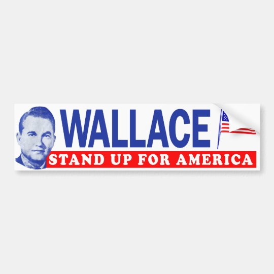 1968 george wallace stand up for america bumper bumper sticker